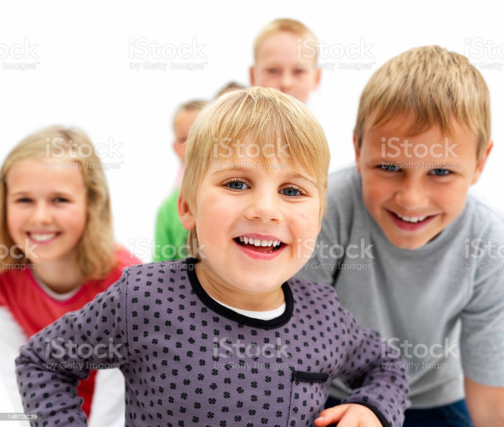 Happy boys and girls royalty-free stock photo