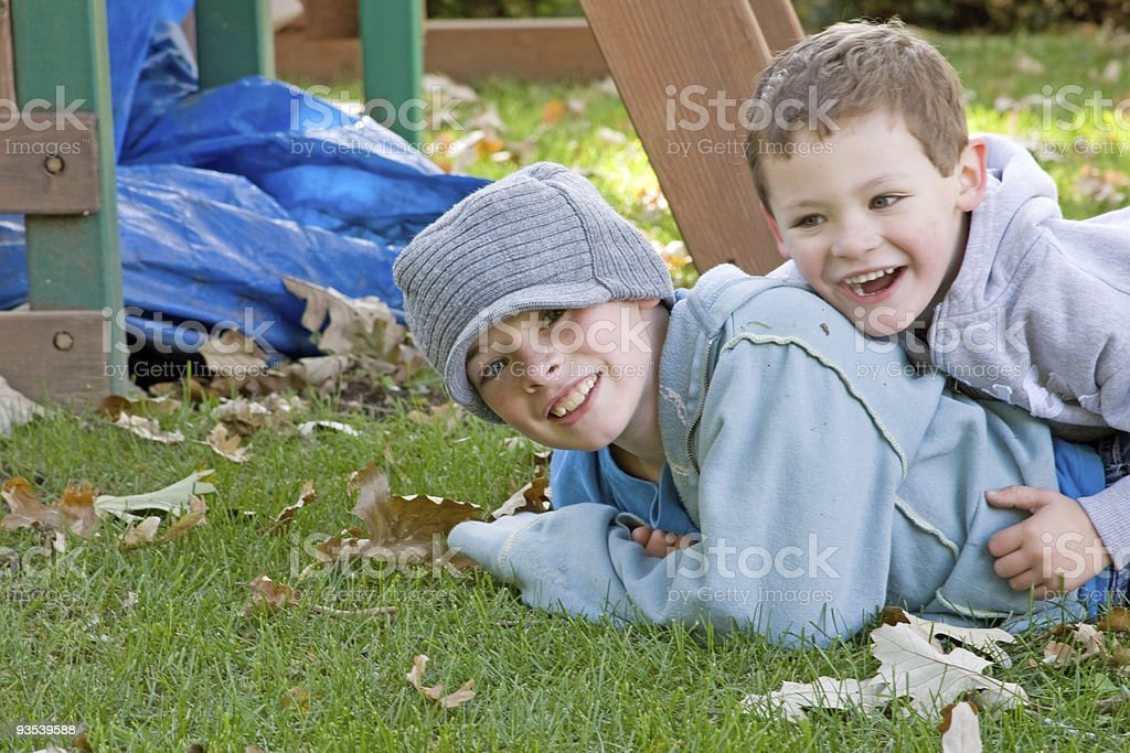 Happy Boys stock photo