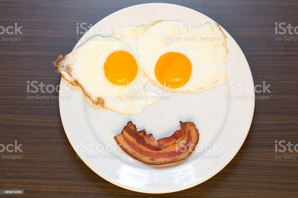 happy breakfast stock photo