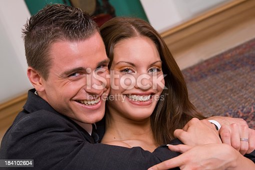 674214372istockphoto Happy Bride and Groom 184102604