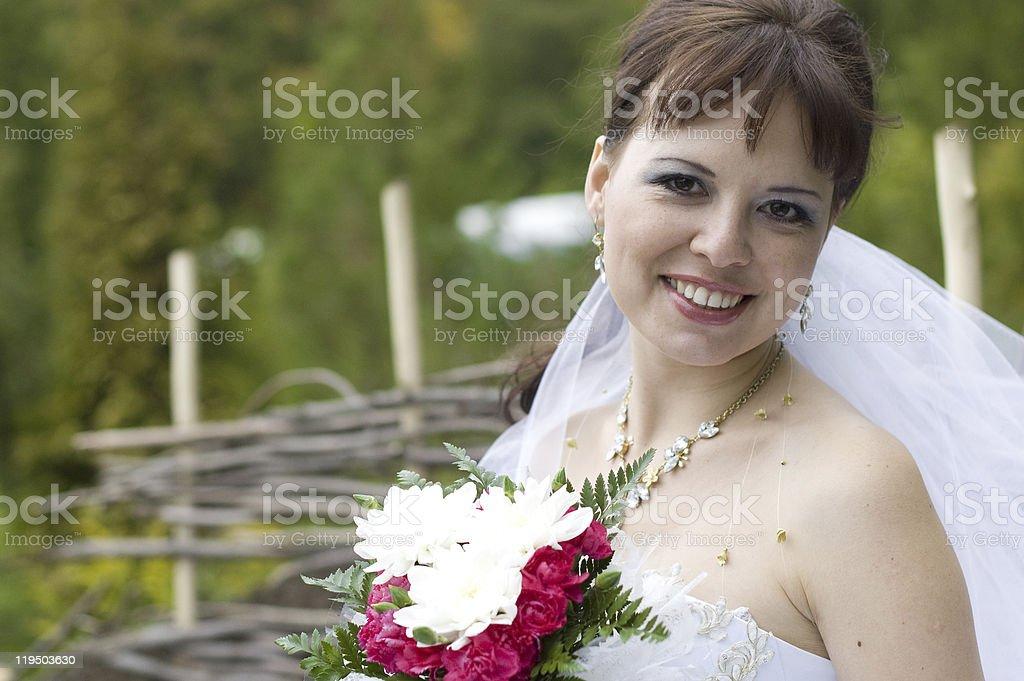Happy bride. royalty-free stock photo