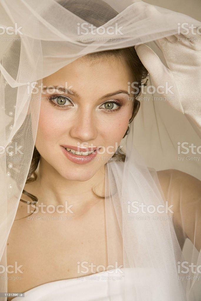 Happy bride. XL royalty-free stock photo
