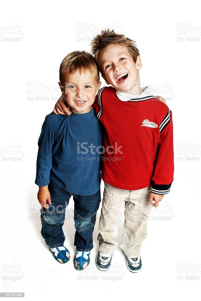 Happy Brothers stock photo