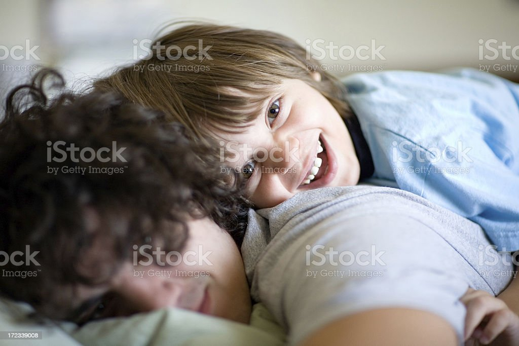 Happy Brothers royalty-free stock photo