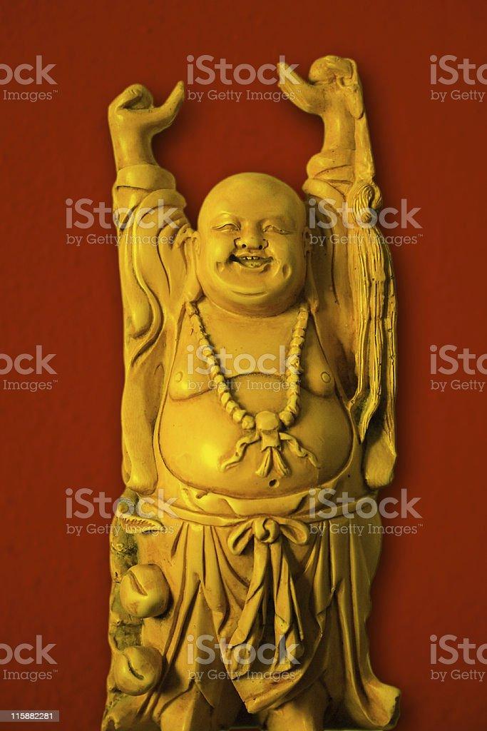 happy buddha standing (konfuzius) stock photo