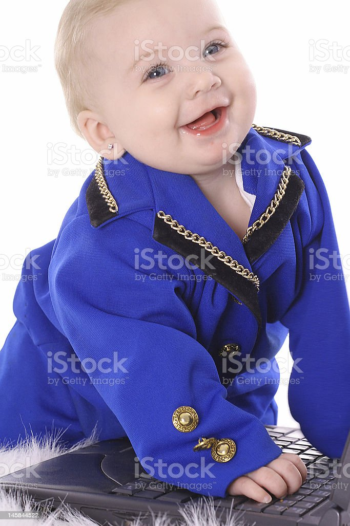 happy business baby royalty-free stock photo