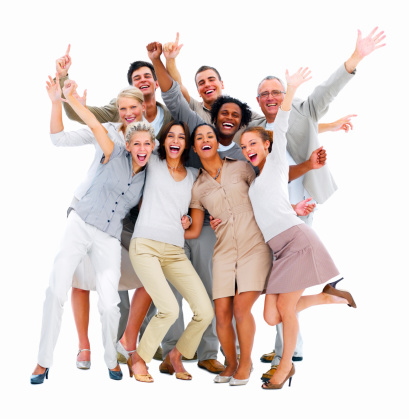 Happy Business Colleagues Having Fun Stock Photo - Download Image Now