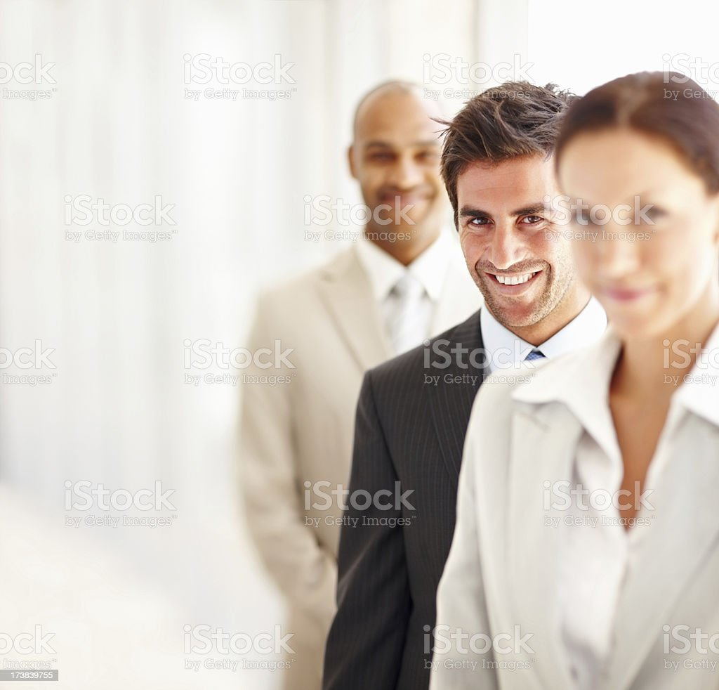 Happy business colleagues royalty-free stock photo