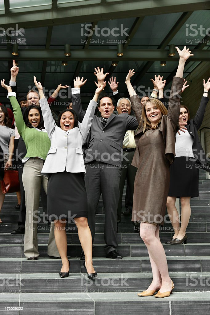 Happy business group royalty-free stock photo