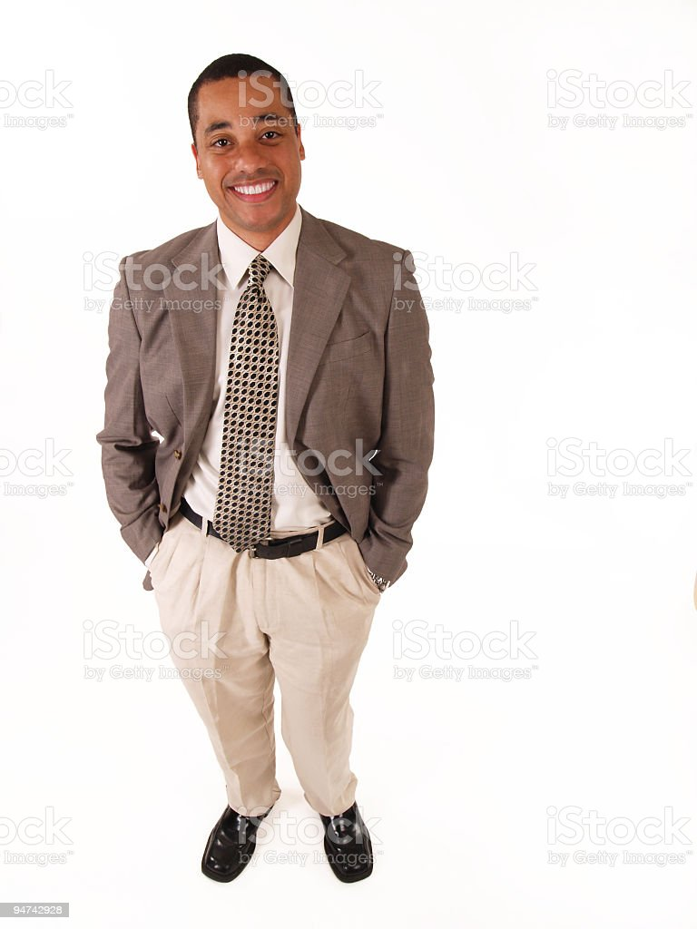 Happy Business Man from Above royalty-free stock photo