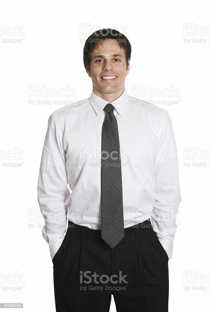 Happy business man royalty-free stock photo