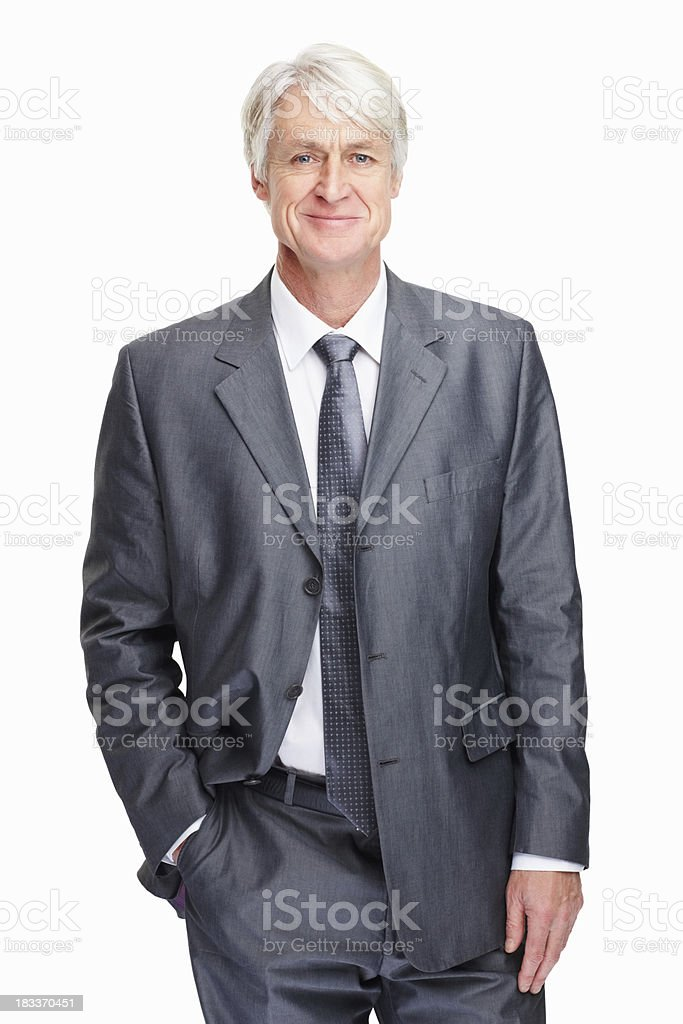 Happy business man posing royalty-free stock photo