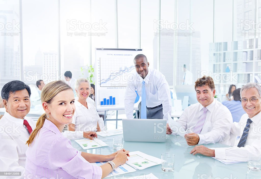 Happy Business Meeting. royalty-free stock photo