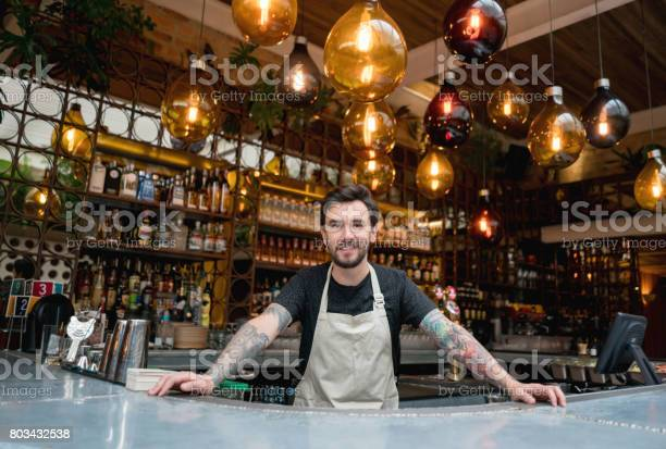 Happy business owner working at a restaurant picture id803432538?b=1&k=6&m=803432538&s=612x612&h=orarej16trjos4djhdr6qa8mbna4mvde ejg1gk6txi=