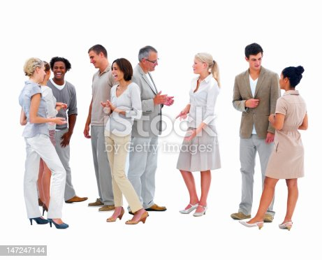 Happy Business People Conversing With Each Other Stock Photo & More Pictures of Active Seniors