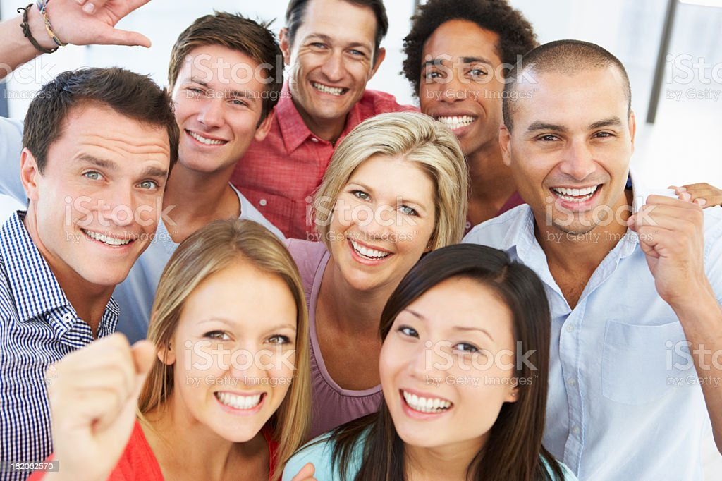 Happy Business People in Casual Dress stock photo