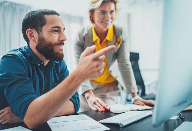 Happy Business Menschen Meeting concept. Verschwommene Hintergründe. horizontal. – Foto
