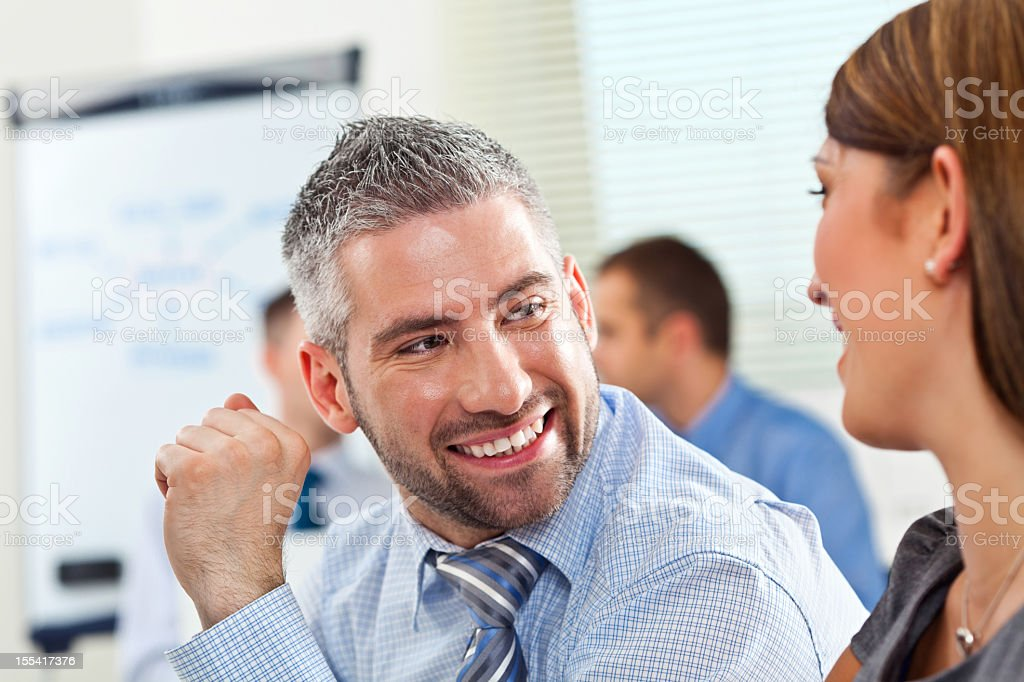Happy business people  Adult Stock Photo