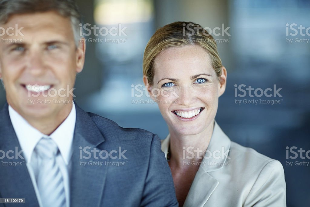 Happy business people royalty-free stock photo