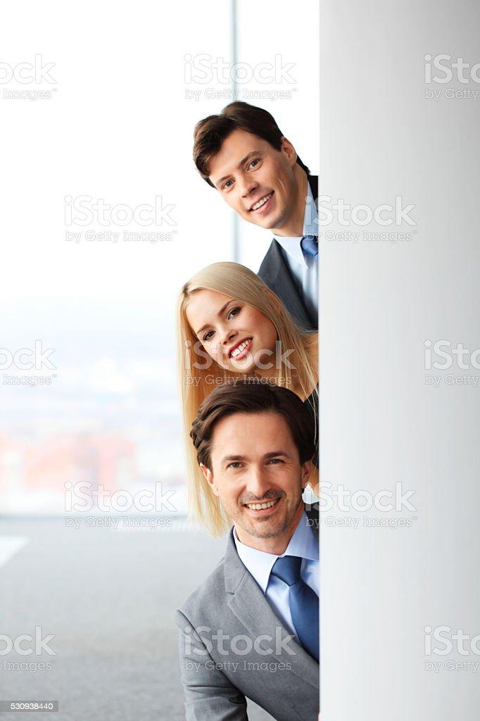 Happy business people stock photo