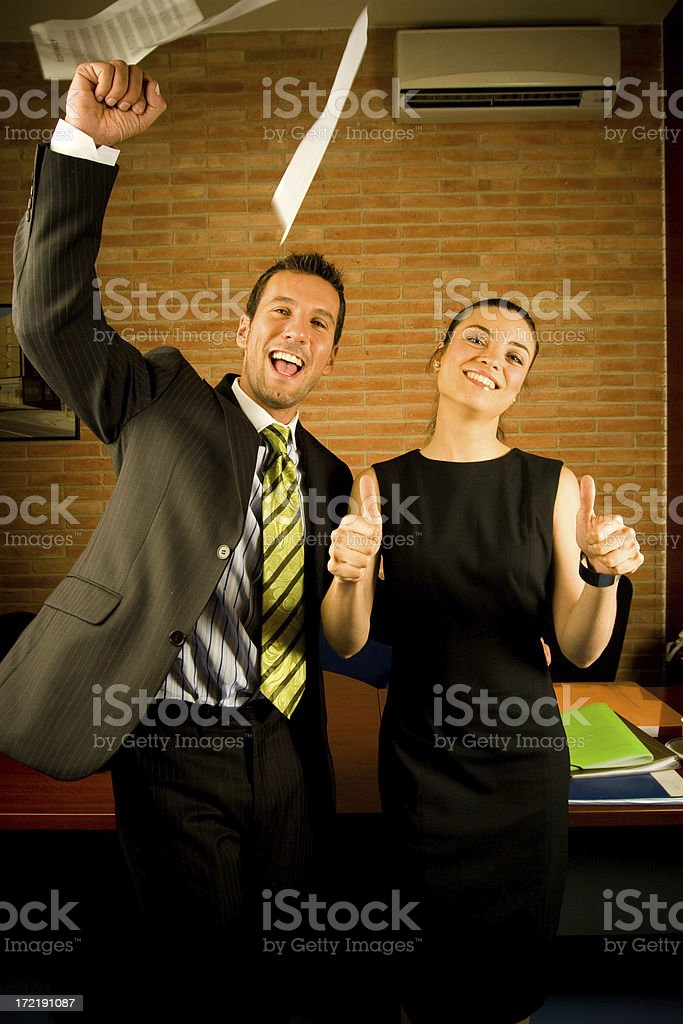 Happy business royalty-free stock photo