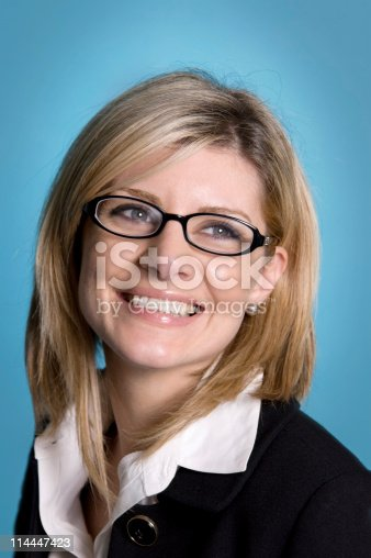 istock Happy Business Woman 114447423