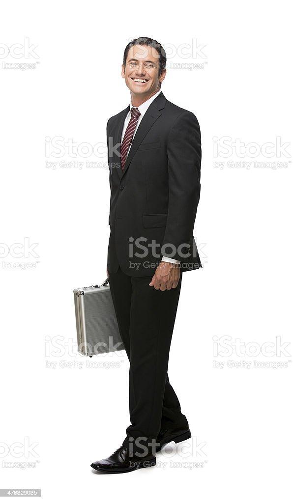 Happy businessman full body royalty-free stock photo
