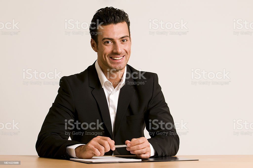 happy businessman royalty-free stock photo