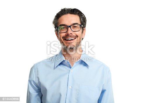 istock Happy businessman. 614440856