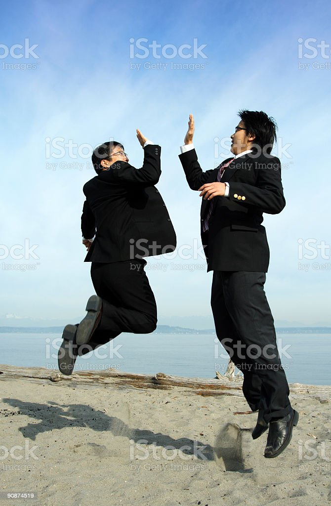 Happy businessmen royalty-free stock photo