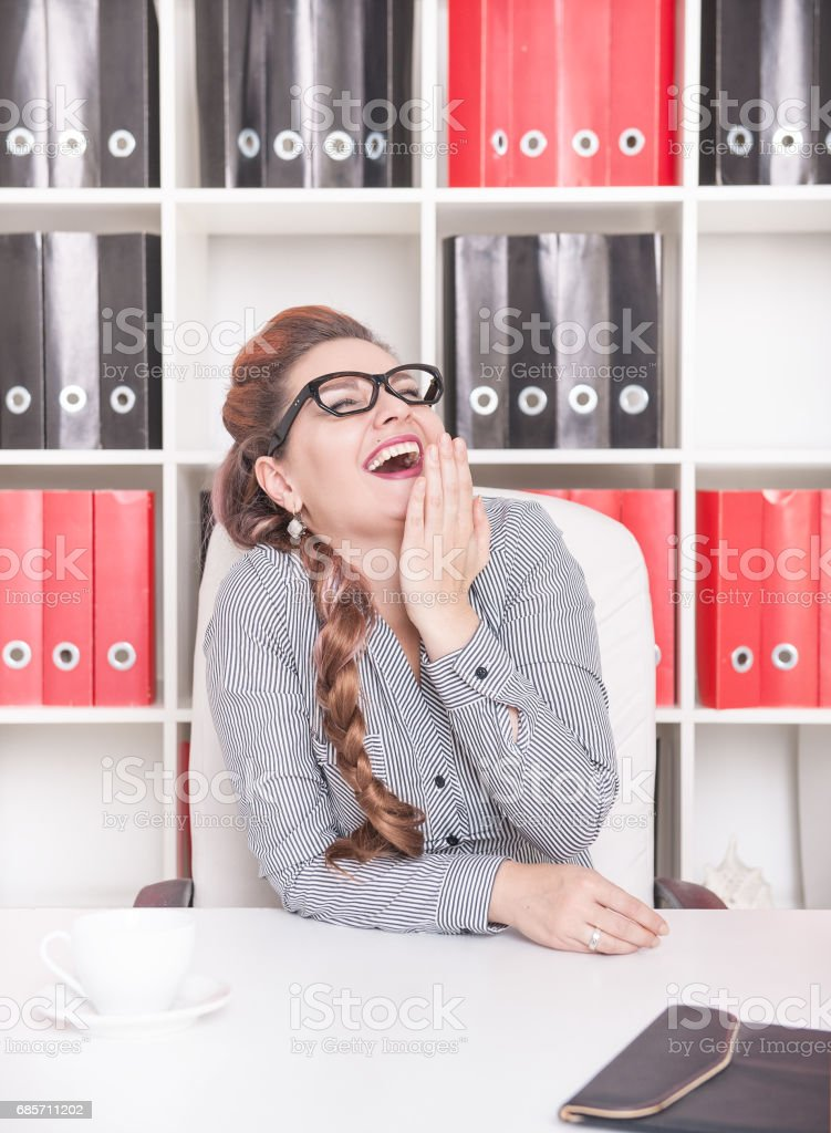 Happy businesswoman laugh royalty-free 스톡 사진