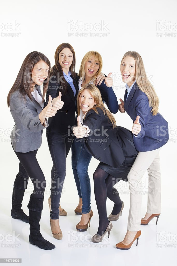 Happy Businesswoman team royalty-free stock photo