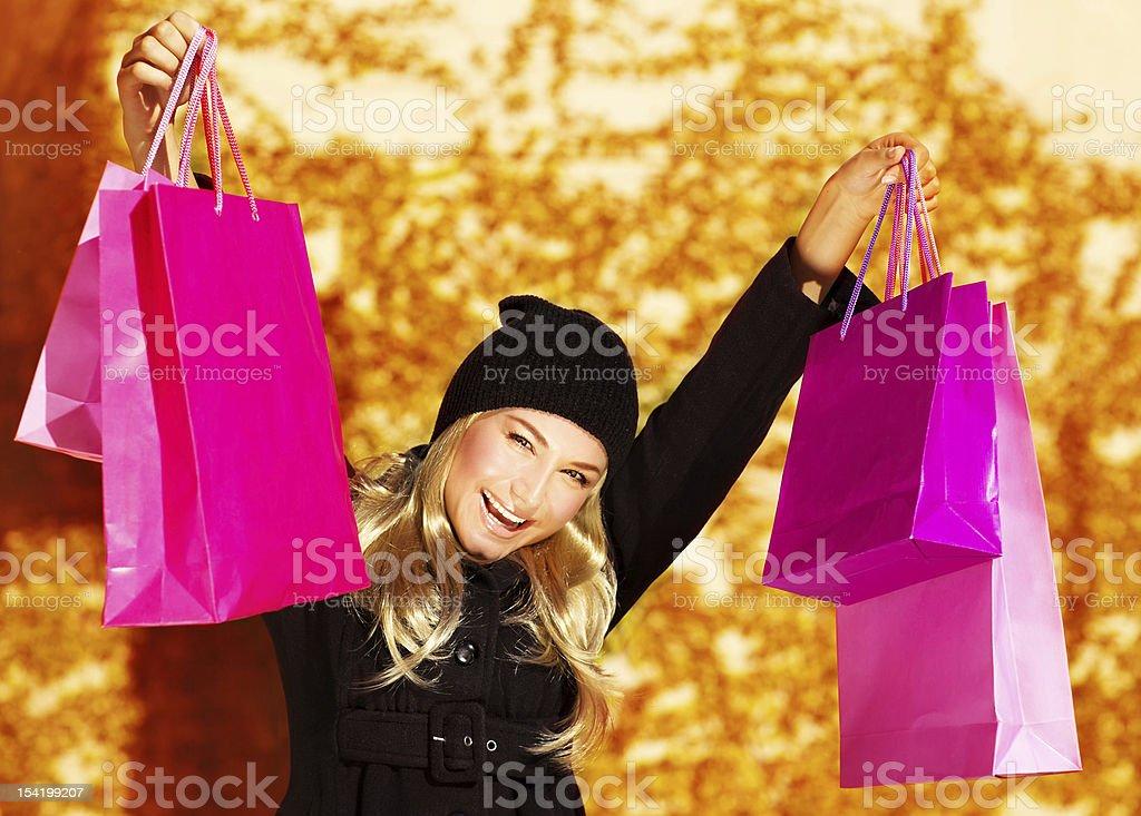 Happy buyer girl royalty-free stock photo