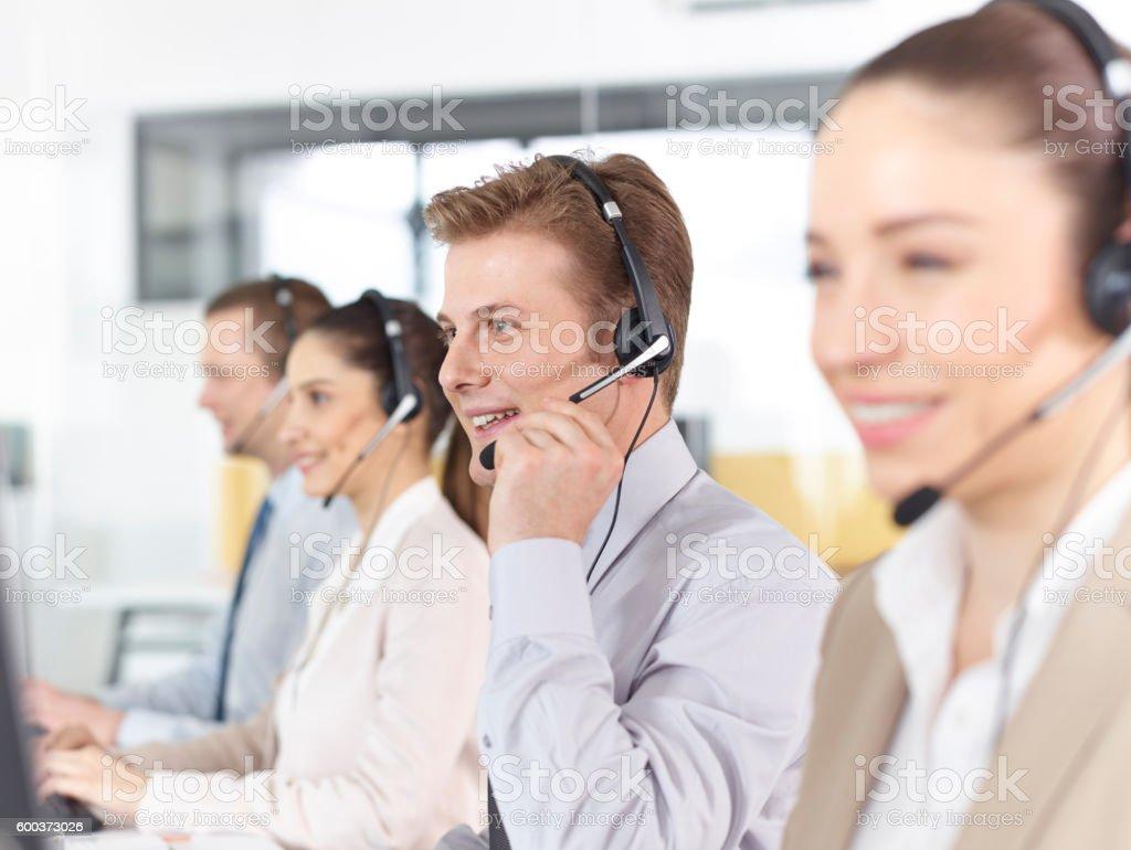 Happy call-center-Betreiber – Foto
