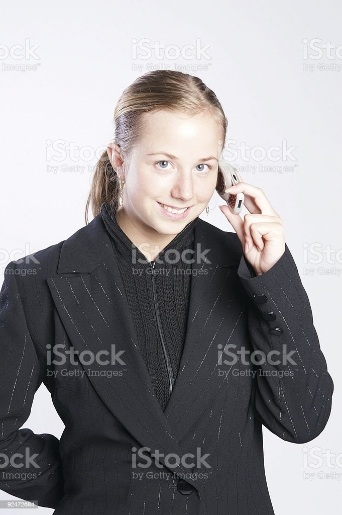 Happy call royalty-free stock photo