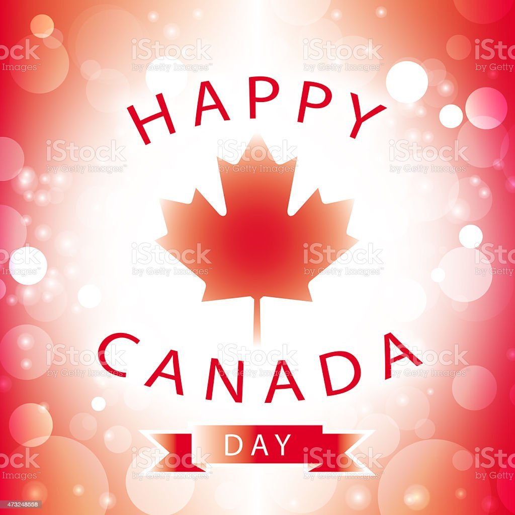 happy canada day greeting card stock photo
