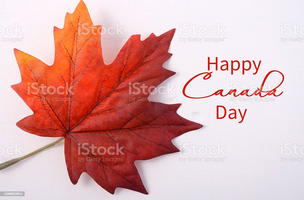 Happy Canada Day Maple Leaf stock photo
