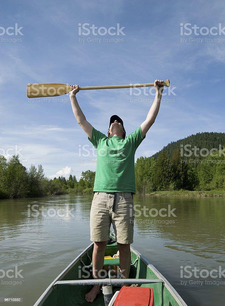 Happy Canoeing royalty-free stock photo