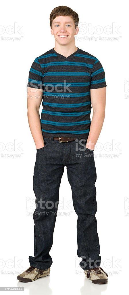 Happy Casual Teenage Boy stock photo