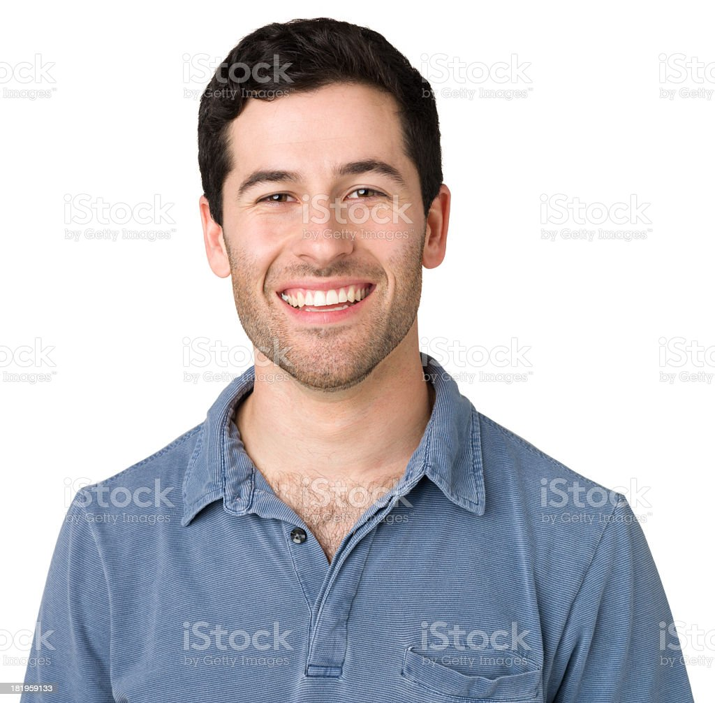 Happy Casual Young Man Smiling royalty-free stock photo
