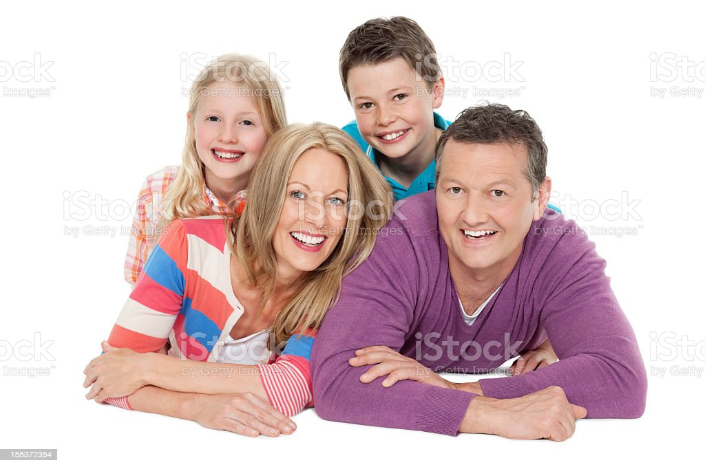 Happy Caucasian Family royalty-free stock photo