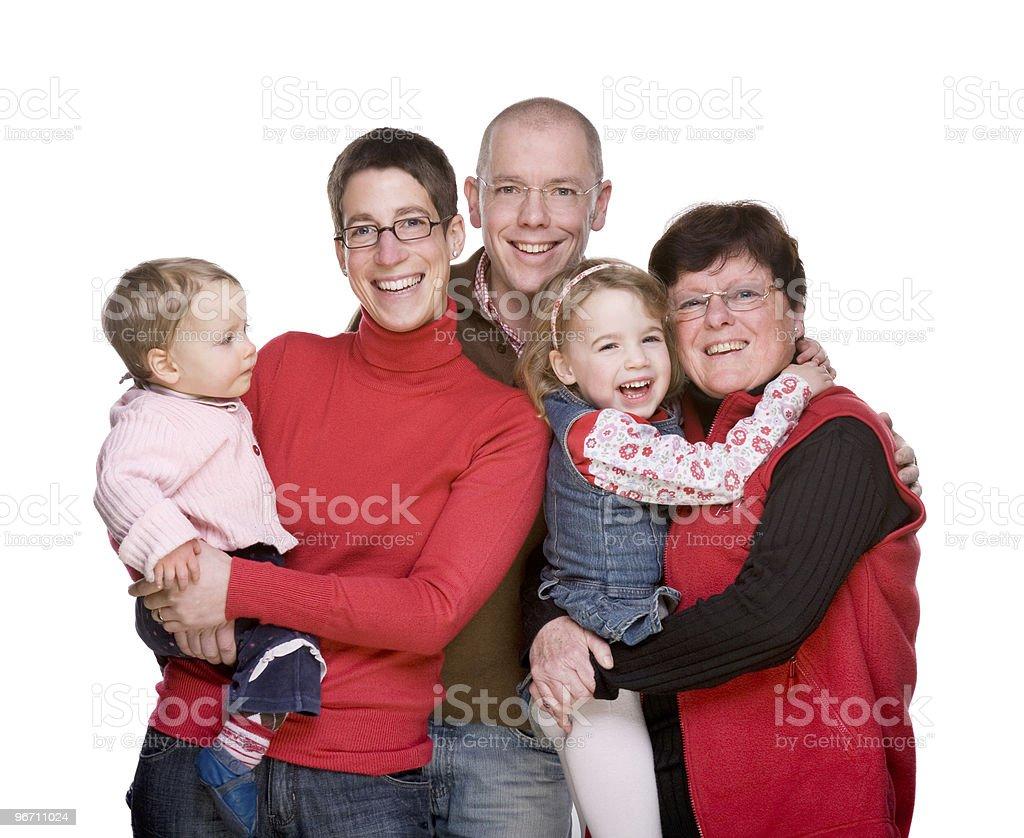 Happy caucasian family royalty-free stock photo