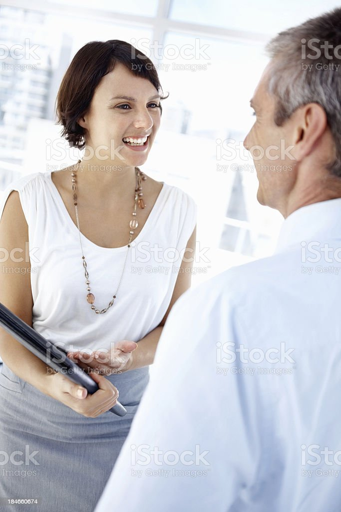 Happy chat between business people royalty-free stock photo