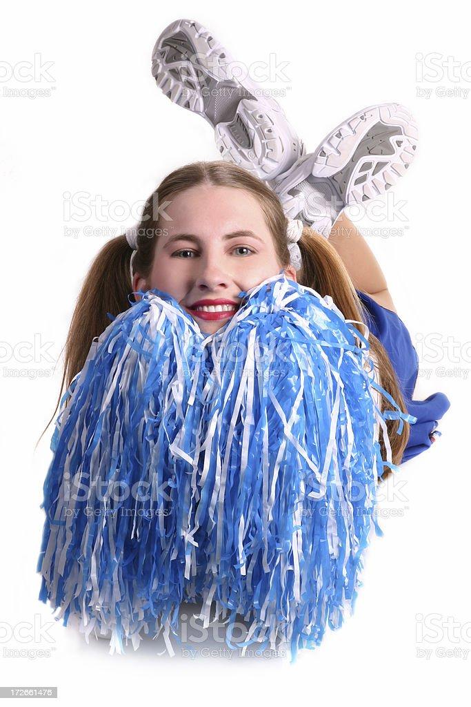 Happy Cheerleader royalty-free stock photo