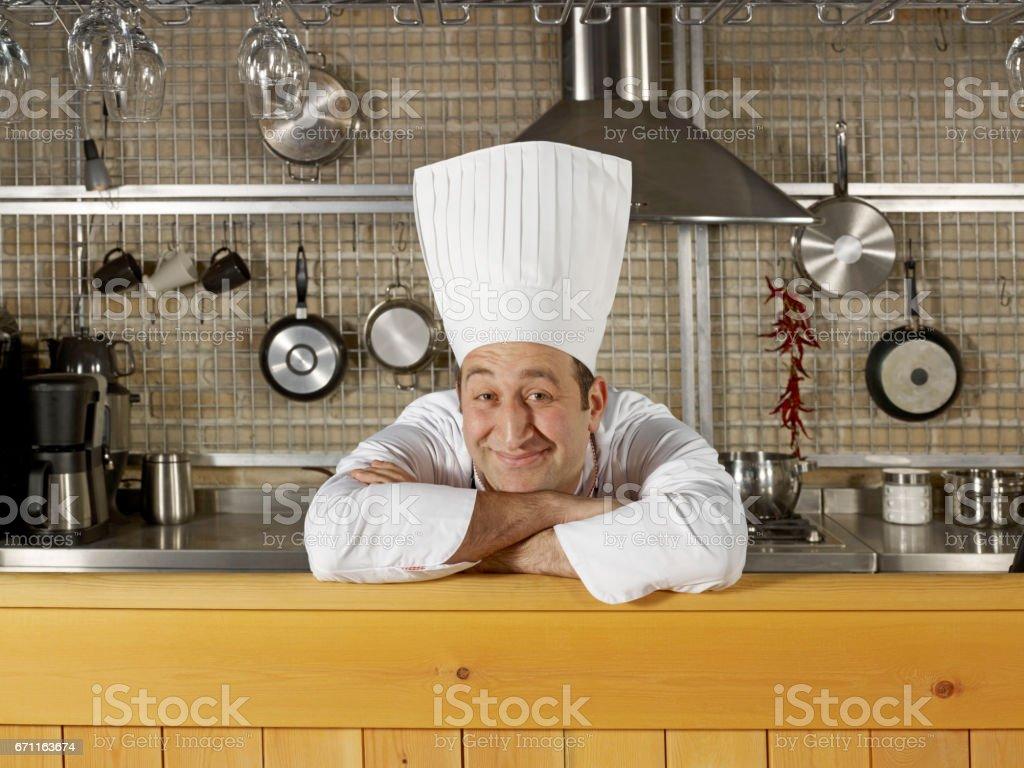 happy chef stock photo