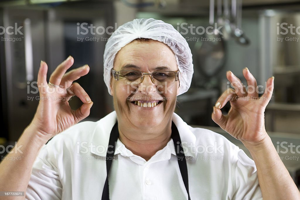 Happy chef woman royalty-free stock photo