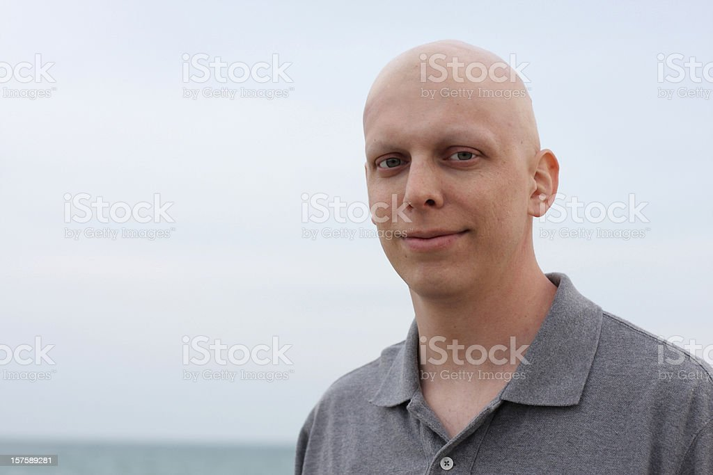 Happy Chemo Cancer Patient stock photo