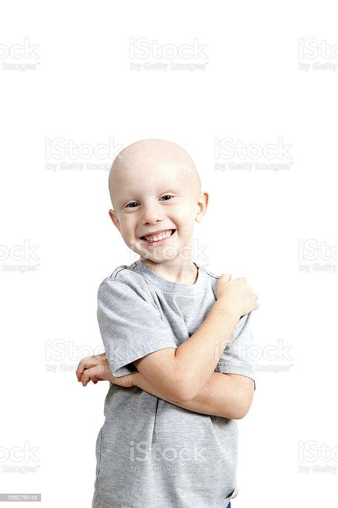 Happy Chemo Child Vertical stock photo