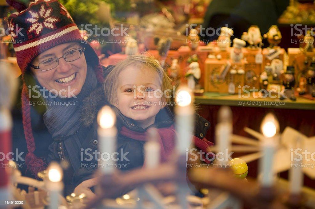 Happy child at Christmas market. royalty-free stock photo