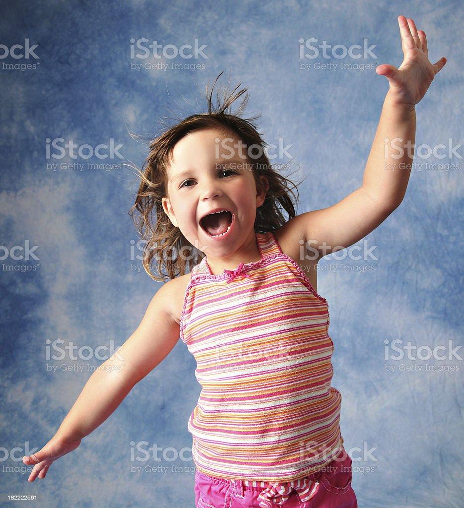 Happy Child Cheering! royalty-free stock photo